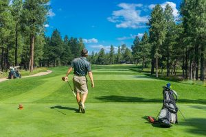 Man benefiting from playing golf